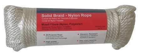 Braided Dia 100 ft L Nylon Rope 3//8 in
