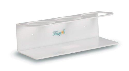 TrippNT 50571 White Polyethylene Bottle Holder, Stores 3 Bottles of 500mL, 4