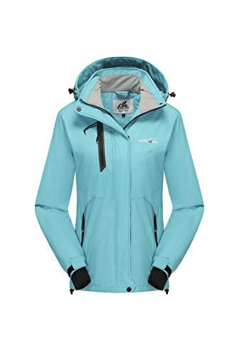 svacuam Women's Mountain Waterproof Ski Jacket Outdoor Windproof Snow Jacke