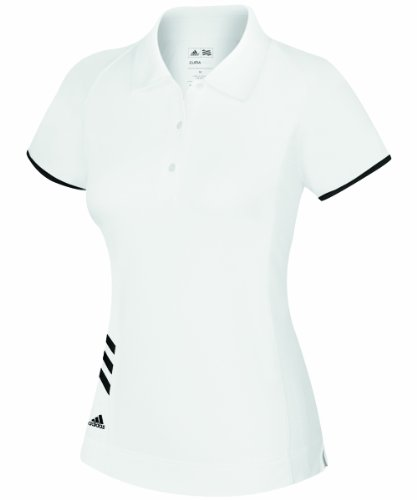 adidas Women's climacool 3-Stripes Polo - White/Black - X-Large