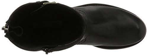 robust brandy Boots Boots Buffalo shoes Leather Preto Black 06 Short 30509 Leather black fqYYdz
