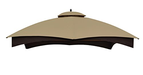 APEX GARDEN Replacement Canopy Top for the Lowe's 10' x 12' Gazebo Model #GF-12S004BTO / (Beige Gazebo)