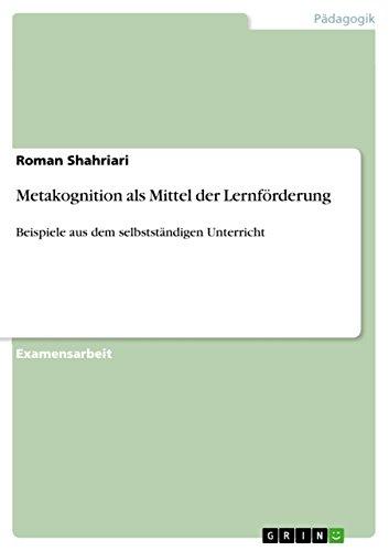 Amazon.com: Metakognition als Mittel der Lernförderung: Beispiele ...