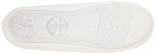 Isotoner White 10 5 Slipper X 9 5 Microterry Large Ballerina Womens Classic rqpXrg