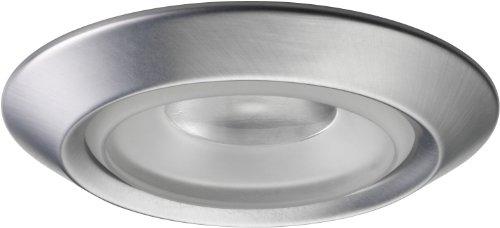 Juno Lighting 4402-SC 4-Inch Beveled Adjustable Recessed Shower Trim, Satin Chrome