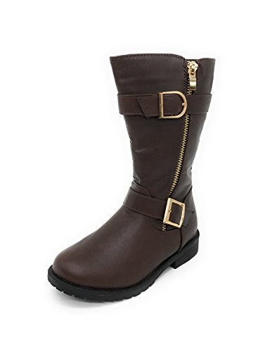 Blue Berry EASY21 Girl's Buckle Slouch (Slouch Buckle Boots)