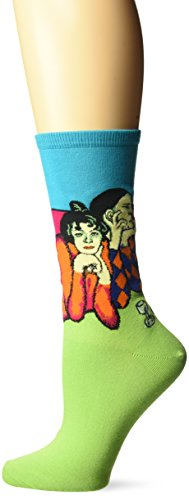 - Hot Sox Women's Artist Series Crew Socks | Two Acrobats, Turquoise, Shoe Size: 4-10