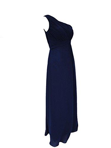 YiYaDawn Langes Ballkleid Brautjunfernkleid One-Shoulder Kleid für Damen Lavendel fYbuu2M4I