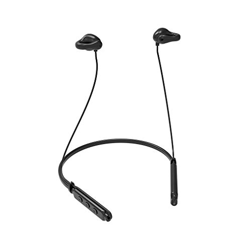Air Conduction Bluetooth Headset - Longerse Open Ear Clip-on Wireless Headphone with Mic for Running Cycling Driver Sport (Black)
