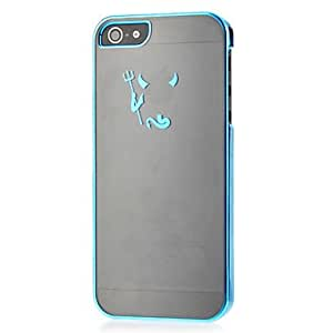 YXF Demon with Fork Pattern Plastic Hard Case for iPhone 5/5S (Assorted Colors) , Black