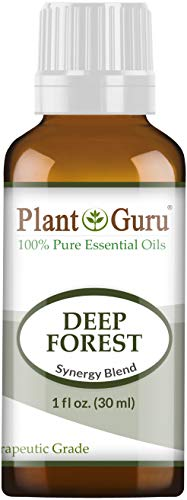 Deep Forest Essential Oil Blend 1 oz / 30 ml 100% Pure, Undiluted, Therapeutic Grade. Aromatherapy, Respiratory System Support, Air Purifier, Sinus, Cold, Flu Relief, Natural Christmas Scent ()
