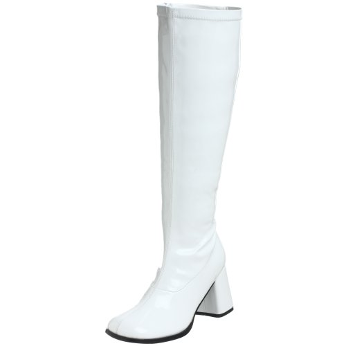 Funtasma by Pleaser Women's Gogo-300W,White Patent,8 M