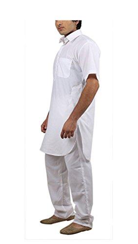 Royal Kurta Big Boy's Cotton Blended Fine Pathani Kurta Pyjama 42 White by Royal Kurta (Image #2)