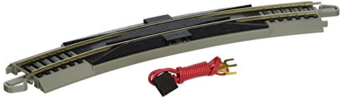 "Gray Roadbed Ez Track (Bachmann Trains Snap-Fit E-Z Track 18"" Radius Curved Terminal Rerailer with Wire)"