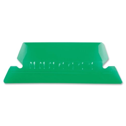 Pendaflex 42GRE Hanging File Folder Tabs, 1/5 Tab, Two Inch, Green Tab/White Insert, ()