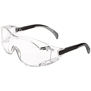 Gateway Safety 6980 Cover2 Safety Glasses, Clear Lens, Black Temple