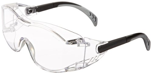 Gateway Safety 6980 Cover2 Safety Glasses Protective Eye Wear - Over-The-Glass (OTG), Clear Lens, Black ()