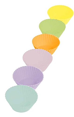 Casabella Boxed Mini Muffin Cup, 2-Inch, Multicolor, Set of