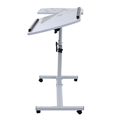 Lucoo Laptop Desk Folding Computer Desk Household Can Be Lifted and Folded 64cm40cm (White) by Lucoo (Image #4)