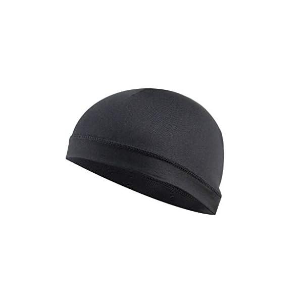 MIS1950s Elastic Beanie Dome Cap Sweatband Moisture Wicking Cooling Skull Cap Inner...