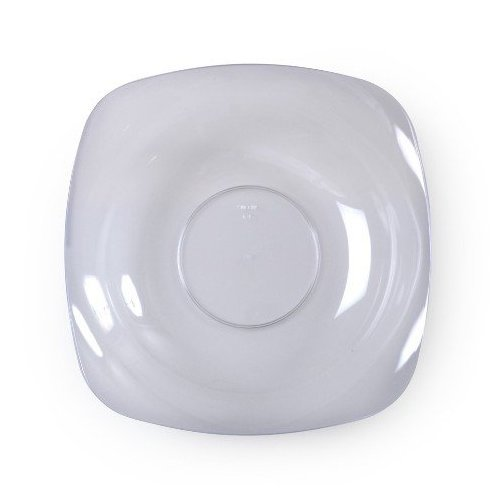 Fineline Settings 10-Piece Renaissance Rounded Square China-Like Bowl, 12-Ounce, - Bowl Square Rounded