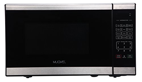 Muave' Compact Microwave Oven 0.7 Cu. Ft, 120v Stainless Steel, Ideally Sized RV Microwave Oven, Compact Microwave for Boat Galley or House Kitchen Microwave Ovens Muave'