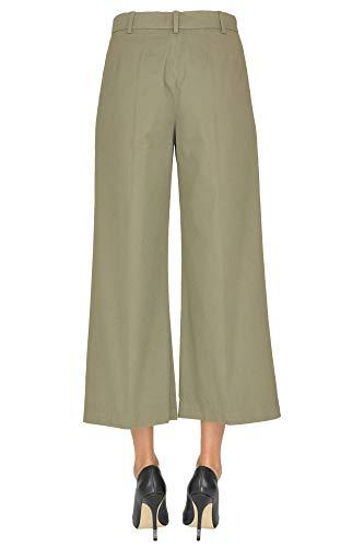 Verde Ezgl050026 Pantalón Algodon Mujer Aspesi 74ZnWB
