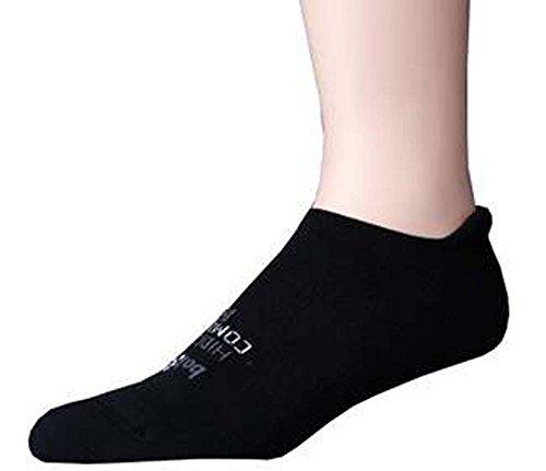 Cheap 2 Pair Balega Hidden Comfort Running Socks Black Large