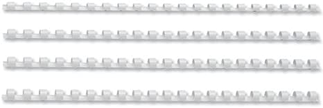 Pack 100 5 Star Office Binding Combs Plastic 21 Ring 65 Sheets A4 10mm White