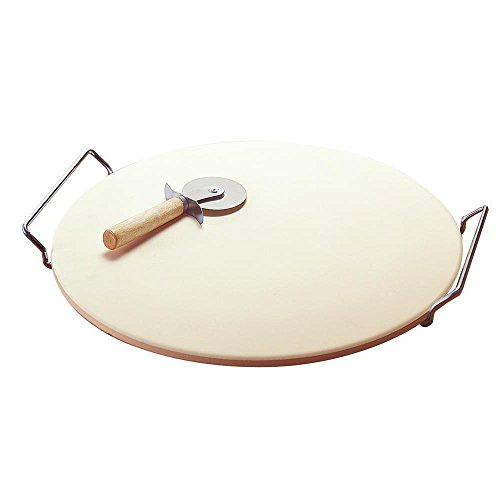 TG888Warehouse Pizza Stone 15'' Baking Oven Round Stainless Steel Rack Cutter Easy Pizza Slicing by TG888Warehouse