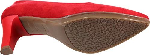 Zapato Cm Tacón Salón Wuapas Stiletto Rojo Mujer 7 3590 CwRg05