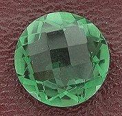 12mm Round Checkerboard Green Quartz Gem Gemstone