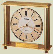 Bulova B1700 Grand Prix Clock, Brass (Seiko Brass Clock)