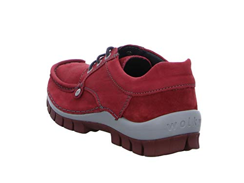 Rouge Rouge Femme de EU 38 Wolky Lacets Chaussures Ville à xCSn0wOq