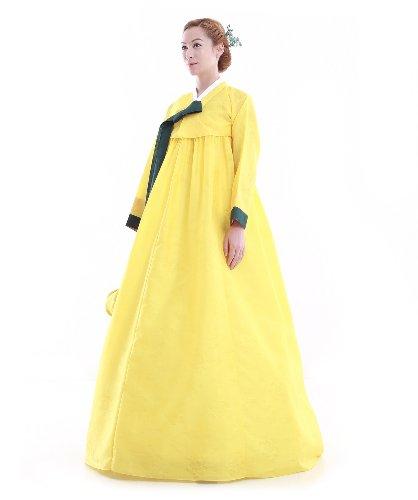 Kleid Hanbok Korea Lang Gelb Elegant Fashion kdSN6eYMLz