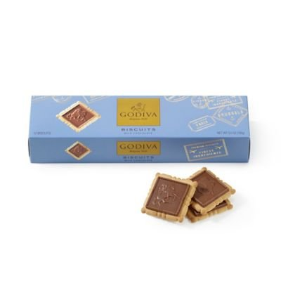 Godiva Chocolate Biscuits (GODIVA Chocolatier Signature Milk Chocolate Biscuits, 12 pc.)