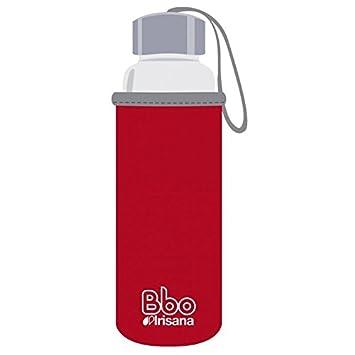 Irisana Botella Reutilizable de borosilicato de 500 ML, con Funda de Neopreno. Bbo5 (Rojo): Amazon.es: Deportes y aire libre