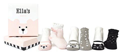 Trumpette Baby Girls Sock Set-6 Pairs, Ella's-Assorted Pastels, 0-12 Months
