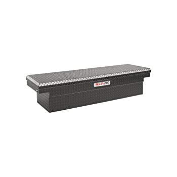Delta Pro PAC1587002 Black Compact Aluminum Single Lid Crossover Truck Box