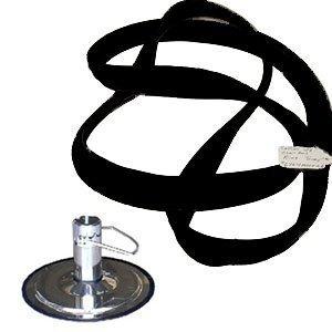 Salon Chair Hydraulic Base Ring * Black Rubber * 26