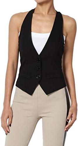 TheMogan Dressy Versatile Racerback Waistcoat product image