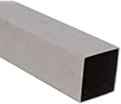 Edelstahl Vierkantrohr 40 x 40 x 2,0 mm - Länge 100 cm - Korn 240 (SVk40-40-100)