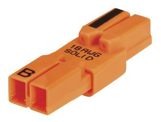Ideal 30-082 Luminaries Disconnect Power Plug (Ballast Connector) 18awg Solid 2-wire, 100-pack---Free Shipping