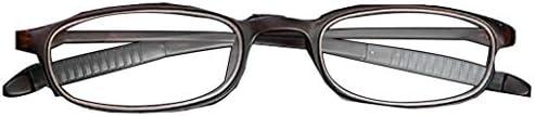 老眼鏡読書の視覚疲労を軽減する男性用レトロフルフレームオーバルレンズ高解像度樹脂レンズ用老眼鏡は良い読書体験です。ブラックブラウン+ 1.0、+ 2.0、+ 3.0を含む