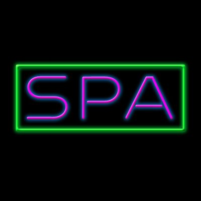LED Neon Spa Sign (Day Spa Neon Sign)