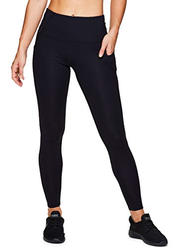 RBX Active Women's High Waisted Workout Leggings Black S19 M