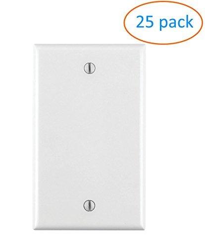 - Kenuco Gang Keystone Wall Plate - Standard Size (25 Pack, Blank)
