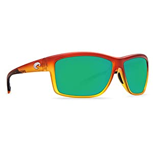 Costa Del Mar Mag bay AA 79 Matte Sunset Fade Sunglasses for Mens - Size 400G (Green Mirror Lens)