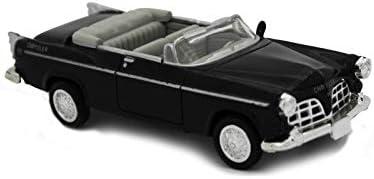 Voiture Americaine Chrysler C-300 E 1955 Noire Interieur Gris 1//43/° NEWRAY