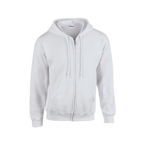 Gildan Heavy Blend Unisex Adult Full Zip Hooded Sweatshirt Top (XL) (Ash)